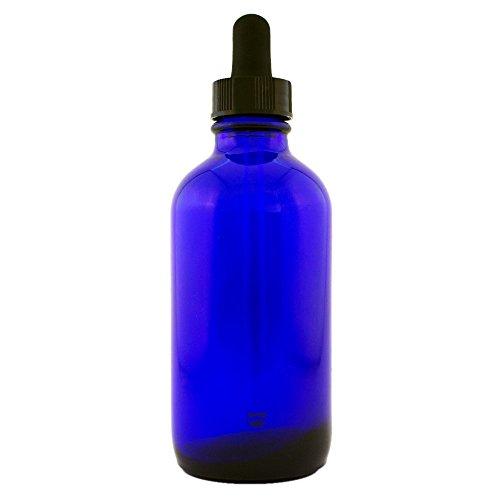 Cobalt Blue Glass Bottle wdropper 4-oz ea