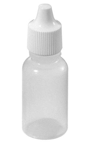 Idealgo Pack of 50 Plastic Bottle Eye Liquid Dropper Dropping Bottles 5ml