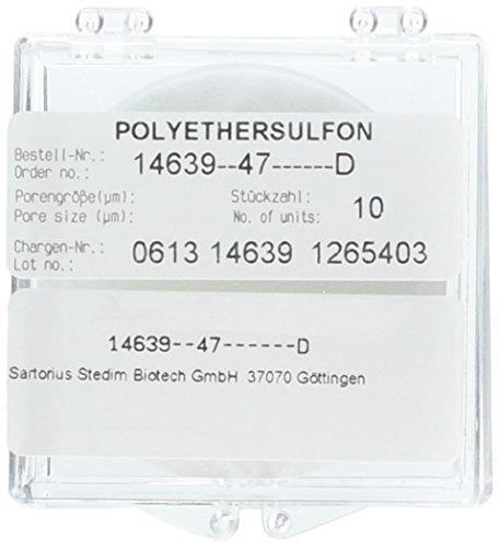 Sartorius 14639--47D 10K MWCO Polyethersulfone Membrane 47 mm Diameter Pack of 10