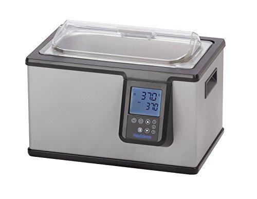 PolyScience WB02SA11B WB02S Shallow Digital Water Bath 145 x 105 x 12 2 L Capacity 120V Ambient 5 to 100