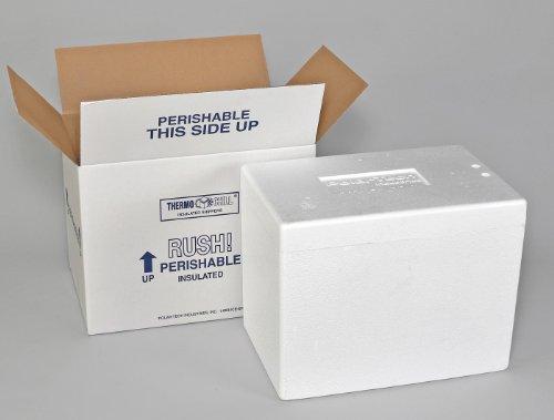 Polar Tech 245C Thermo Chill Insulated Carton with Foam Shipper Medium 17 Length x 10 Width x 8-14 Depth