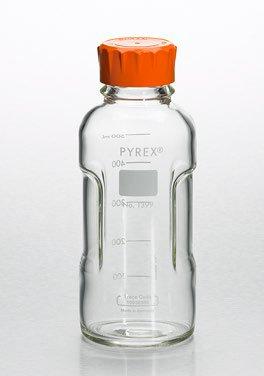 Corning PYREX 250mL Round Media Storage Bottles with GL45 Screw Cap