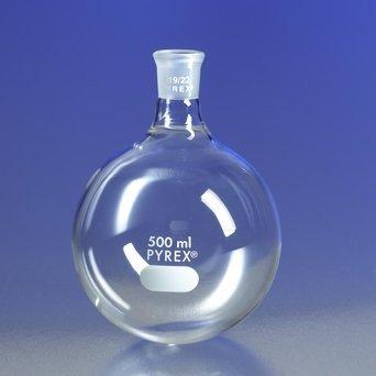 PYREX 250mL Short Neck Boiling Flask Round Bottom 2440 Standard Taper Joint
