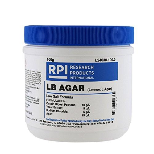 LB Agar Low Salt Formula Powder Lennox L Agar 100 g