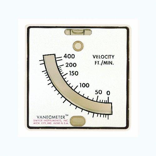 Dwyer Vaneometer Swing Vane Anemometer 25-400 FPM