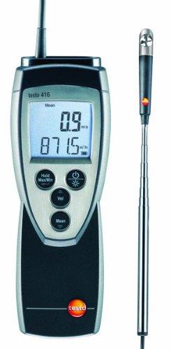 Testo 416 Digital Mini Vane Anemometer 063 Head Diameter 06 to 40 ms Range 0 to 60° C Temperature