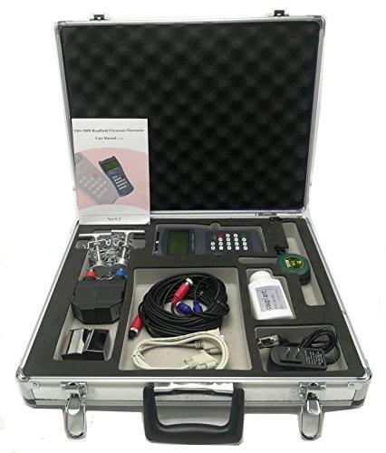 CGOLDENWALL 100H-M2S1 Handheld Ultrasonic Flow Meter Flowmeter Clamp on Sensor DN15-700mm