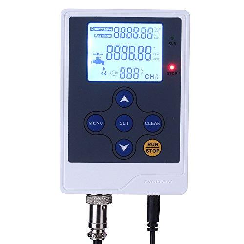 DIGITEN Water Liquid Flow Rate Volume Digital Display Flowmeter Quantitative Controller Counter Liter Gallon