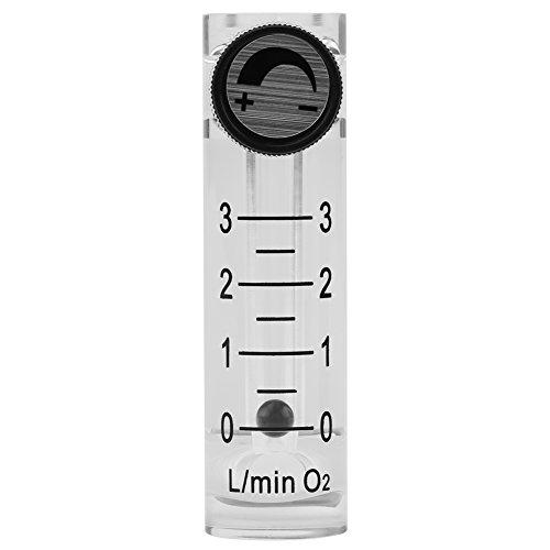 Gas FlowmeterLZQ-2 Flowmeter 0-3LPM Flow Meter with Control Valve for OxygenAirGas