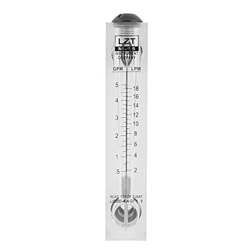 tatoko Flowmeters LZT M-15 05-5GPM 2-18LPM Water Flow Meter Panel Mount Type Flowmeter