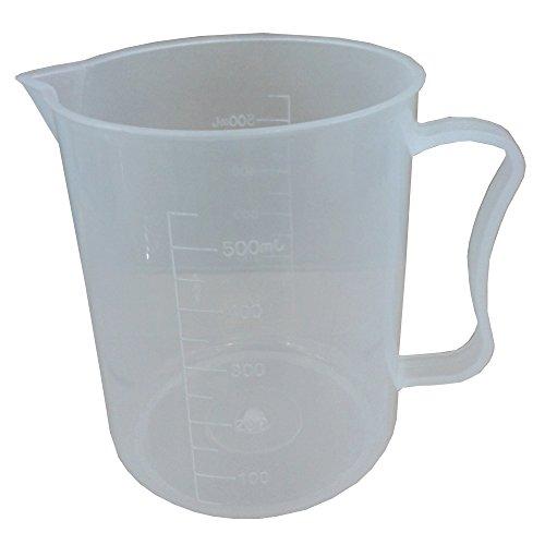BIPEE 500ml Laboratory Plastic Beaker Handled Measuring Cup