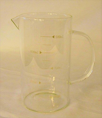Glass Beaker Measuring Cup Graduated Borosilicate Glass Tea Coffee Mug with Handle 500 ml