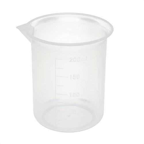 uxcell Kitchen Labotary 200mL Plastic Measuring Cup Jug Pour Spout Container