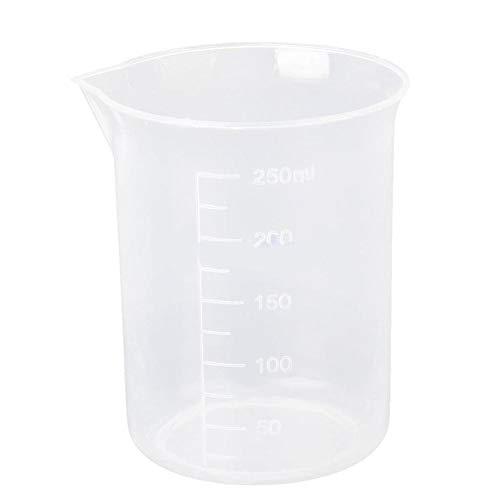 super1798 250ml Plastic Graduated Measuring Cup Beaker for Lab Laboratory