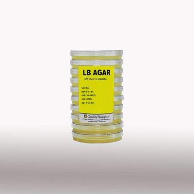 340-213-211 - LB Agar with 50μgml Chloramphenicol - LB Agar Plates Quality Biological - Case of 100