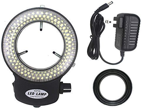 LED-144-ZK Black Adjustable 144 LED Ring Light Illuminator for Stereo Microscope Black