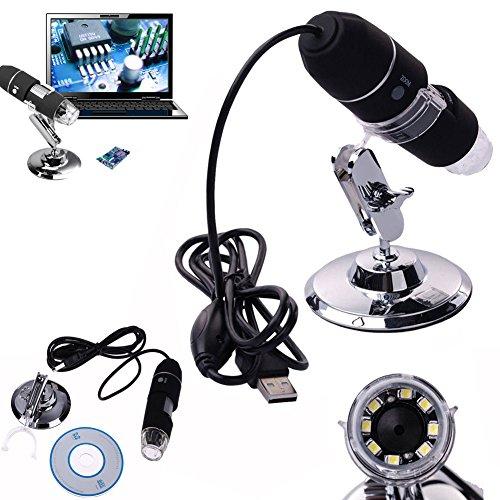 Eminentshop 2MP 1000X 8 LED USB Digital Microscope Endoscope Zoom Camera Magnifier  Stand