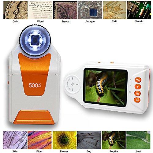 Indigi Digital Pocket Microscope Magnifier 500x ZOOM 27 LCD Photo Video Capturing