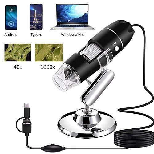 ZOOARTS 1000X Zoom 3in1 1080P HD USB Microscope Digital Magnifier Endoscope Camera Video