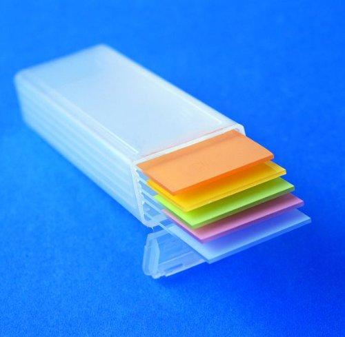 Karter Scientific 212F2 Plastic Microscope Slide Mailer Holds 5 Dispenser box Pack of 100