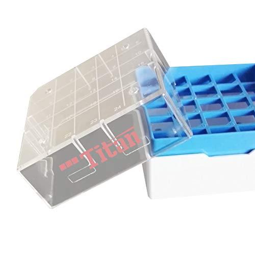 Adamas-Beta Polycarbonate Freezer BoxesPolycarbonate CryoBox Vial RackFreezer Storage5 x 5 Array 25 PlaceFit for 05ml10ml15ml2ml Pack of 4