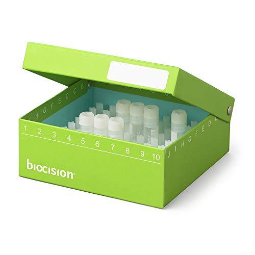Biocision BCS-209G Green TruCool Hinged CryoBox 100-Place Pack of 5