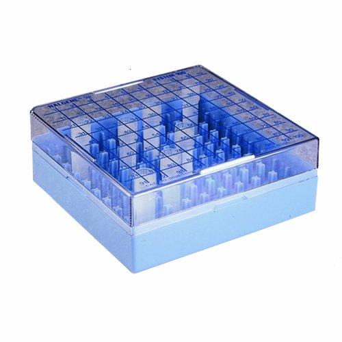 Nalgene 5027-0909 Polycarbonate CryoBox Vial Rack 133mm Length x 133mm Width x 95mm Height 9 x 9 Array 81 Place Pack of 4