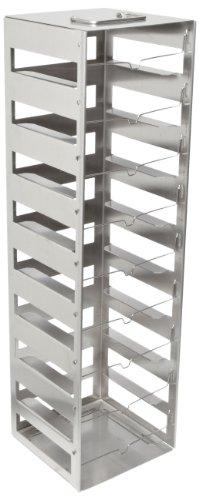Nalgene 5036-0009 Stainless Steel Vertical CryoBox Freezer Rack 502cm Height x 14cm Width x 143cm Depth 9 Shelf