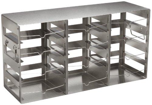 Nalgene 5038-4322 Stainless Steel Horizontal CryoBox Cryogenic Vial Rack 143cm Width x 444cm Height x 59cm Depth 4 x 3 Array 12 Shelf Case of 2
