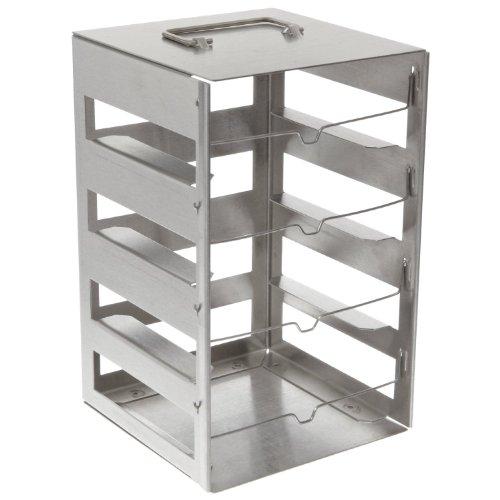 Nalgene DS5035-0004 Stainless Steel Vertical CryoBox Rack 5 x 5 Box 225mm Height x 83mm Width x 84mm Depth 4 Shelf