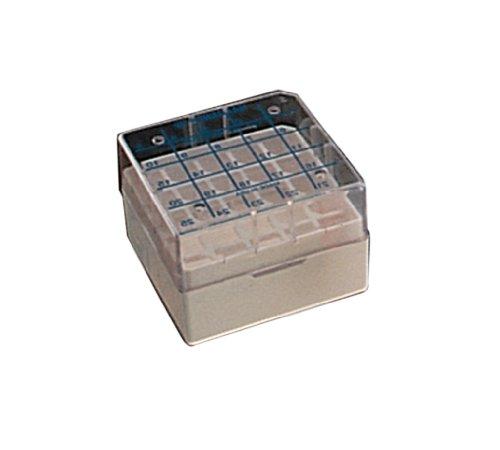 Nalgene PC Cryoboxes White Holds 25 Vials 133mm Length x 133mm Width x 52mm Height Case of 24