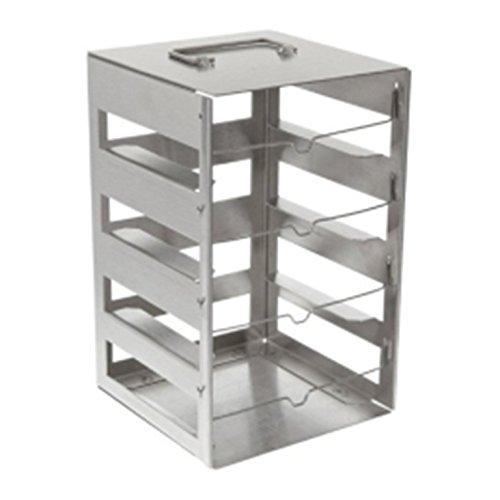 Nalgene Stainless Steel Vertical CryoBox Rack 14cm W x 143cm D x 225cm H Case of 4