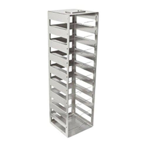 Nalgene Stainless Steel Vertical Cryobox Rack 1220ml 9-Shelf 9X9 Box 140 x 143 x 502mm Case of 4