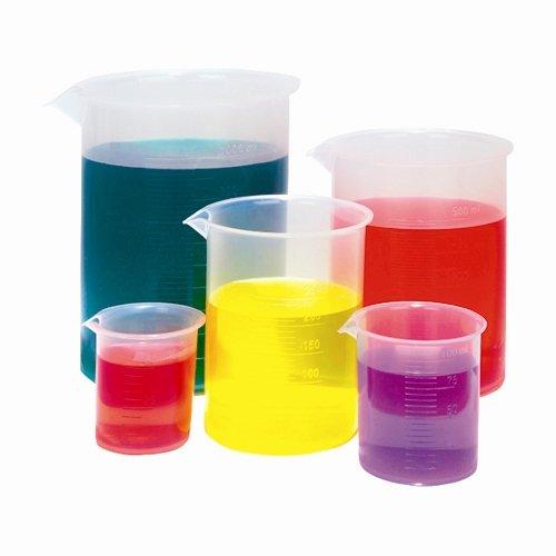 100mL Beaker Graduated Plastic PP Karter Scientific 215B2 Pack of 12