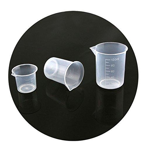 Owfeel A Set of 3 Plastic Beaker Set-25mL 50mL 100mL