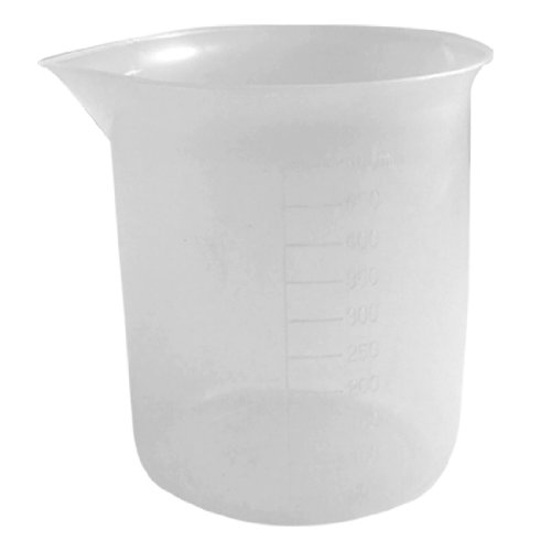 uxcell Laboratory Measurements Transparent Plastic Graduated Cup Beaker 500mL