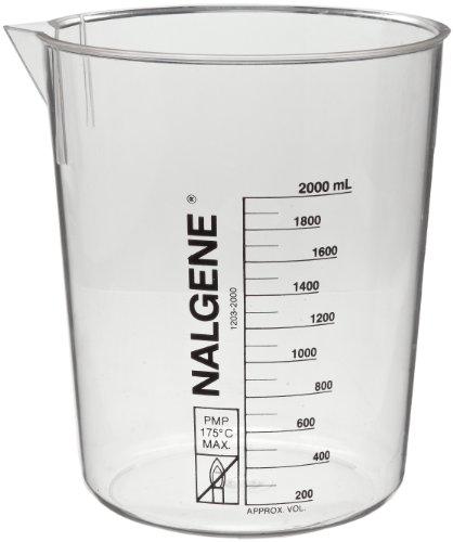Nalgene 1203-0250 Polymethylpentene Low Form Griffin Beaker 250mL Capacity Pack of 6