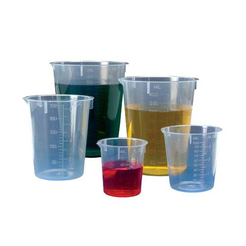 Biomedical Polymers BMP-BK-50 Polypropylene Disposable Beaker 50 mL Capacity Pack of 10