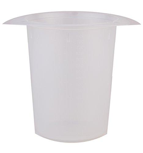 Consolidated Plastics 45317 Polypropylene Tri Pour Disposable Beaker 400 mL 25 Piece