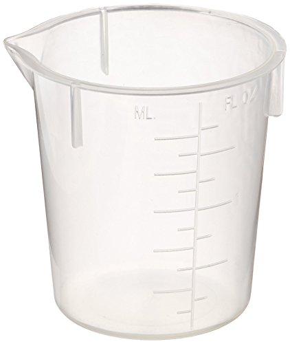 Maryland Plastics L-1220 Polypropylene Disposable Beaker Graduated 50 mL Pack of 100
