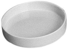 CoorsTek 60048 Porcelain Ceramic Capsule with Flat Bottom 12mL Capacity 45mm OD 10mm Height Case of 36