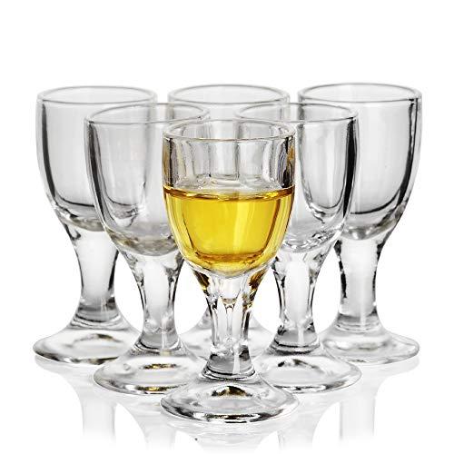 REATR 12ml 04oz Unique Mini Wine Shot Glasses Set of 6