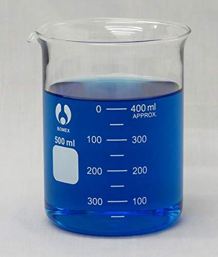 Beaker Low Form Glass Graduated 500ml