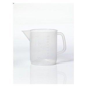 Dynalon Kartell 326495-1000 Polypropylene Low Form Beaker with Handle 1000ml Capacity Case of 24