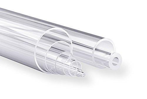 Technical Glass Products 1029OQKZK7F Fused Quartz Tubing 7 mm Inner Diameter x 9 mm Outer Diameter 48 Length Pack of 4