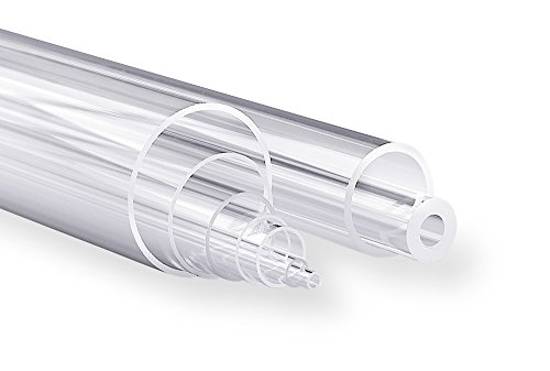 Technical Glass Products 1029OQL1N7F Fused Quartz Tubing 42 mm Inner Diameter x 46 mm Outer Diameter 48 Length