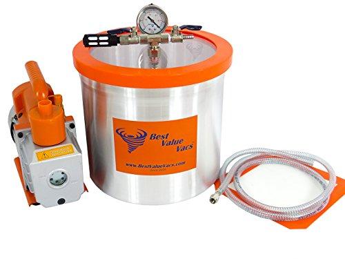 3 Gallon Vacuum Chamber 3 CFM Single Stage Vacuum Pump
