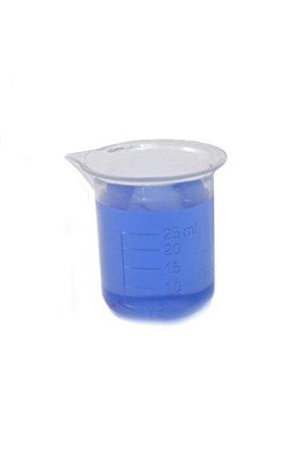 25ml Plastic Beaker 5ml Graduations Premium Polypropylene - Eisco Labs