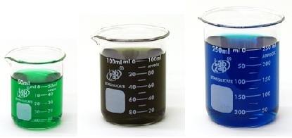 SEOH 3 Pack Glass Borosilicate Graduated Beakers 50ml 100ml and 250ml