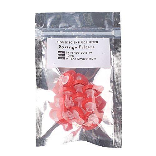 Biomed Scientific Syringe Filters PTFE 13mm Diameter 045um Pore Size non Sterile pack of 10